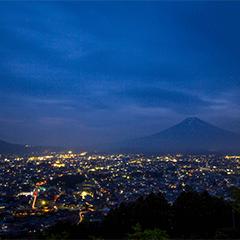 富士山が見える新倉山浅間公園の夜景 | OSCA PHOTO WORKS