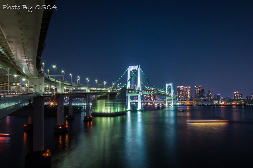 レインボーブリッジの夜景を楽しむ散歩をしよう (2.レインボープロムナード編) | OSCA PHOTO WORKS