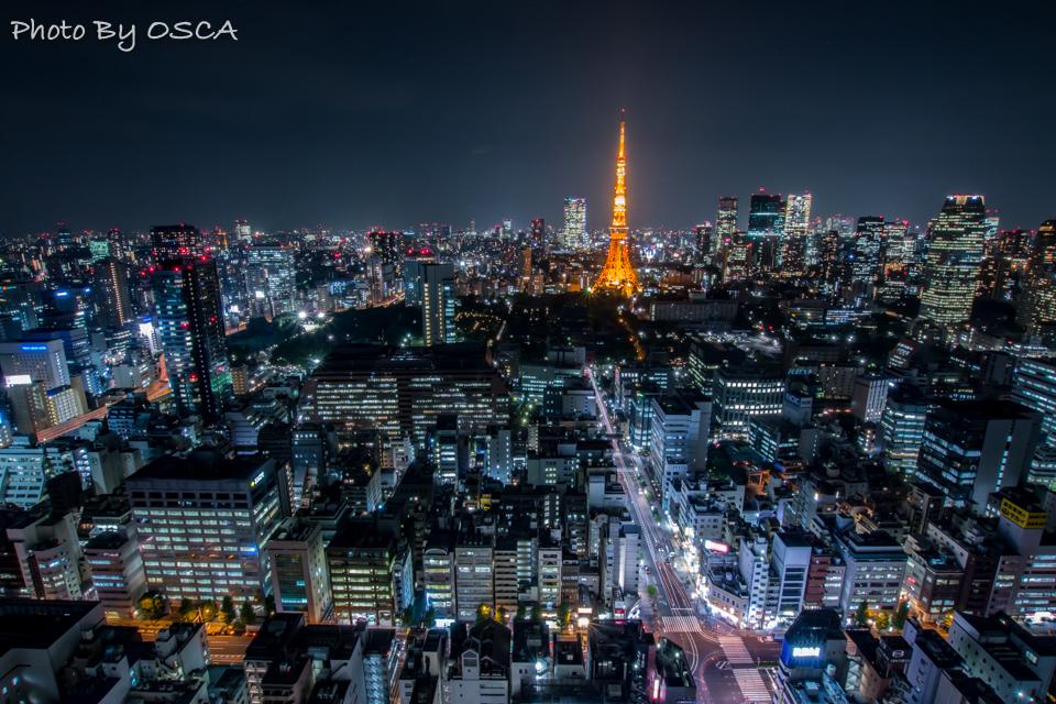 東京タワーが間近に見える「世界貿易センタービルディング展望台」の夜景 | OSCA PHOTO WORKS